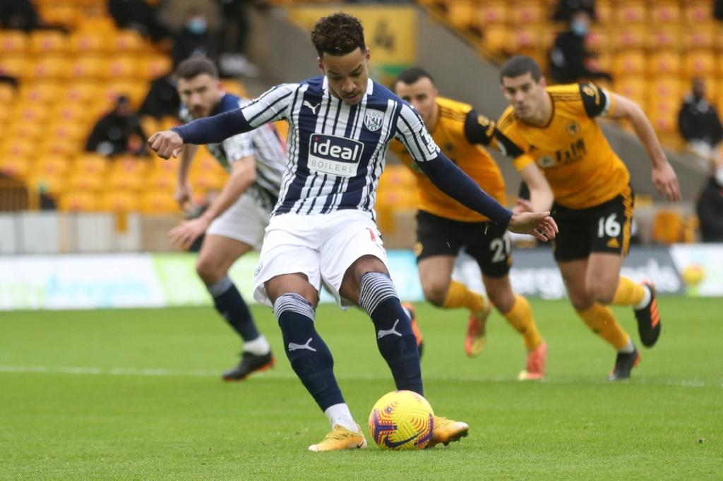 West Brom's Matheus Pereira scored twice from the penalty spot against Wolves