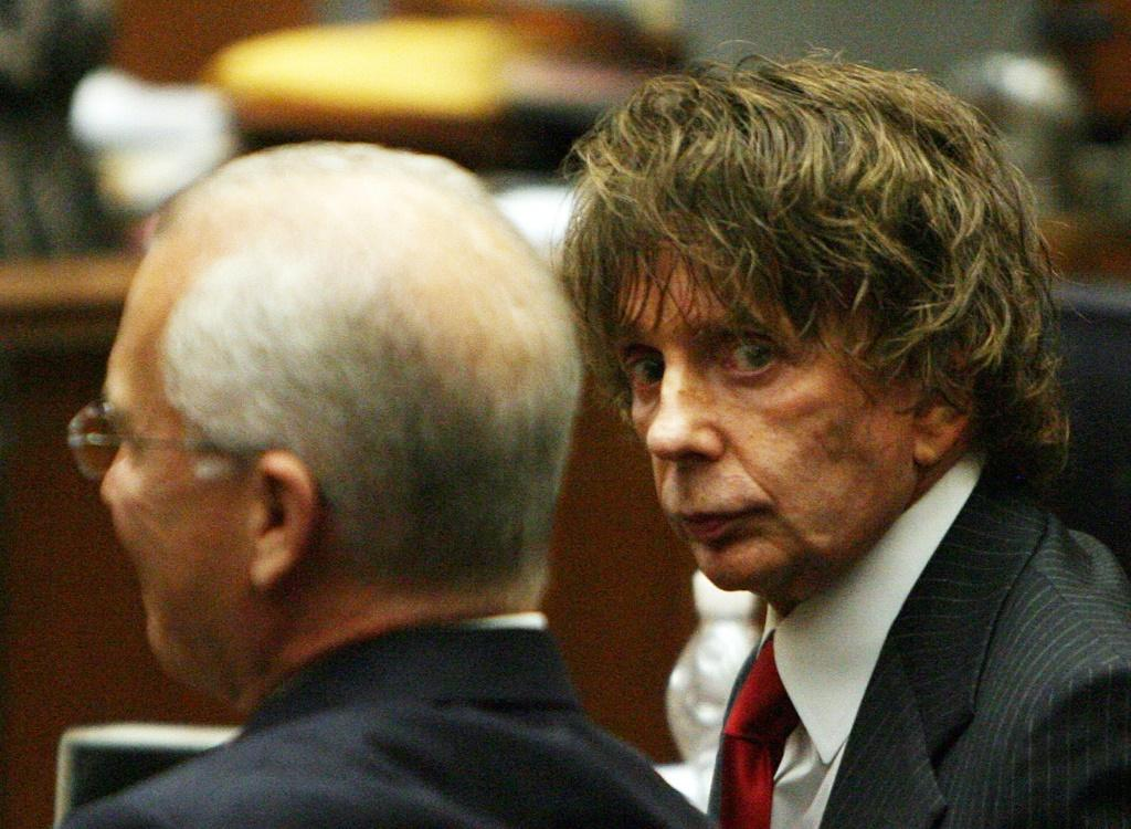 Phil Spector during his 2007 murder trial in Los Angeles -- he was later convicted and has died in prison