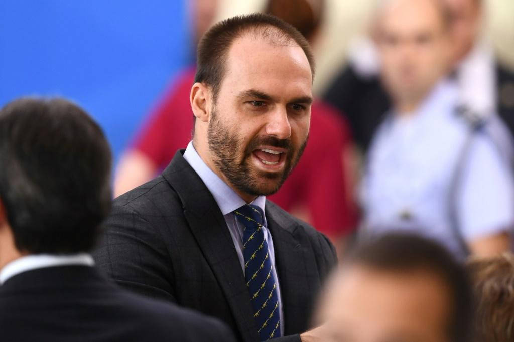 """Brazilian president Jair Bolsonaro's son Eduardo Bolsonaro """"attacked the honor"""" of journalist Patricia Campos Mello, """"questioning the seriousness of her journalism and of her employer,"""" the highly respected daily Folha de S.Paulo, a court said"""
