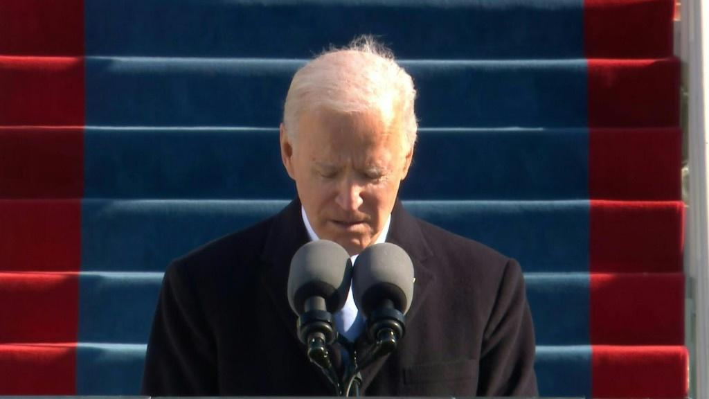 SOUNDBITE New US President Joe Biden leads a moment of silence for the 400,000 American victims of the coronavirus, after warning that the country may be entering the deadliest phase of the pandemic.