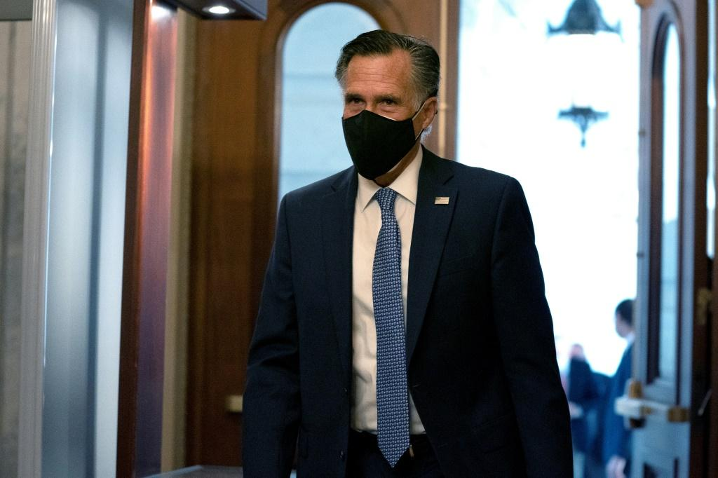 Utah's Republican Senator Mitt Romney, pictured at the US Capitol on December 11, 2020, was the only member of his party to vote to convict Trump in his first impeachment trial