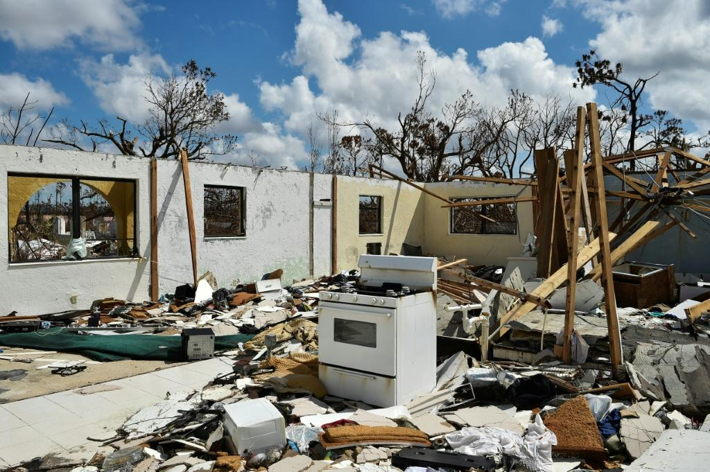 A destroyed home is seen at Freeport on Grand Bahama island on September 10, 2019 after the passing of Hurricane Dorian