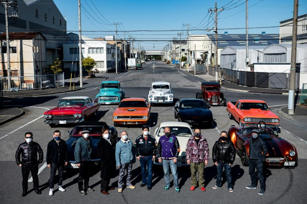 A loose club of fans rolls up most weekends in central Tokyo to show off their cars