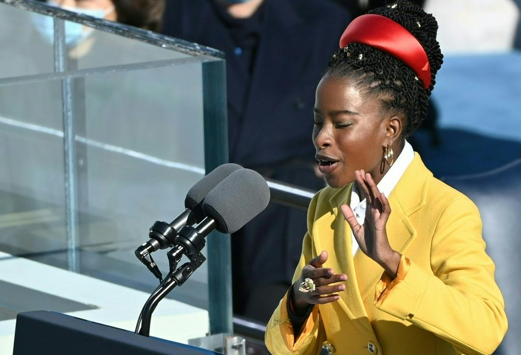 National youth poet laureate Amanda Gorman, pictured at President Joe Biden's inauguration on January 20, 2021, became thefirst-ever poet to perform at the National Football League championship, America's most-watched broadcast of the year