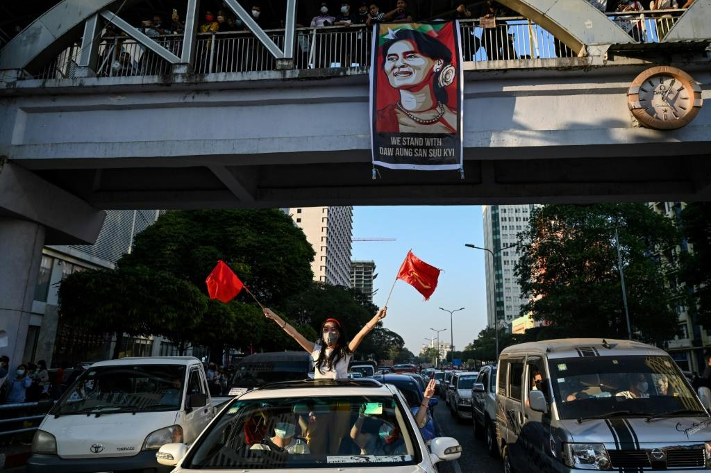 Myanmar's generals have imposed a ban on gatherings of more than five people in protest flashpoint sites