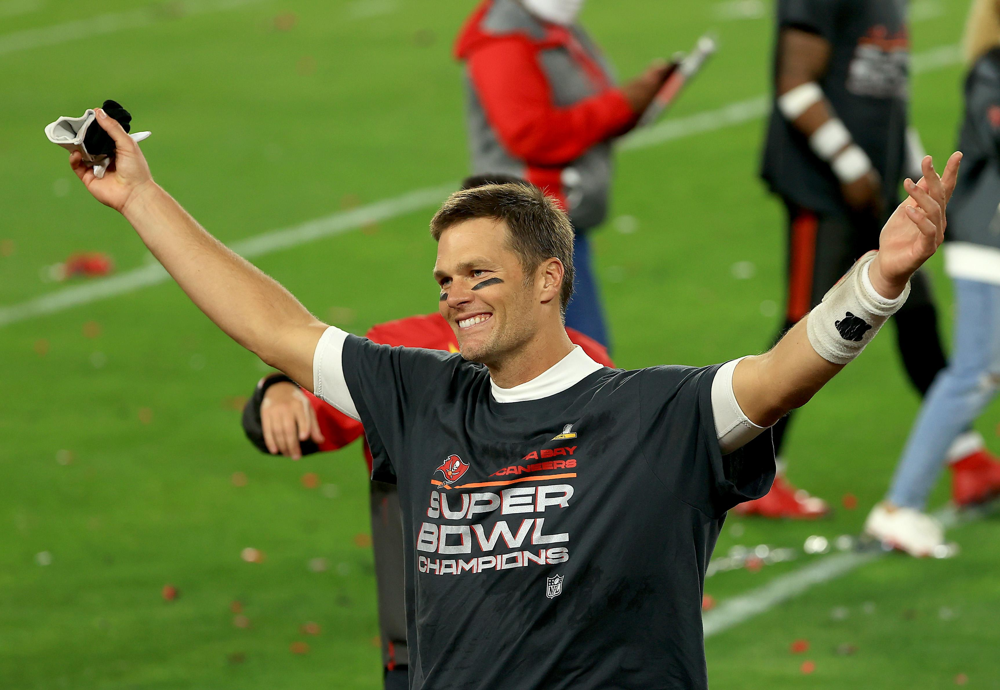 Tom Brady #12 of the Tampa Bay Buccaneers