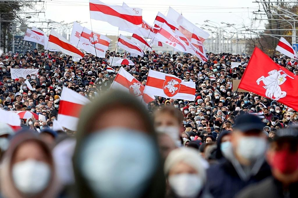 Opposition supporters took to the streets last year to protest against President Lukashenko's claim to a sixth term in office