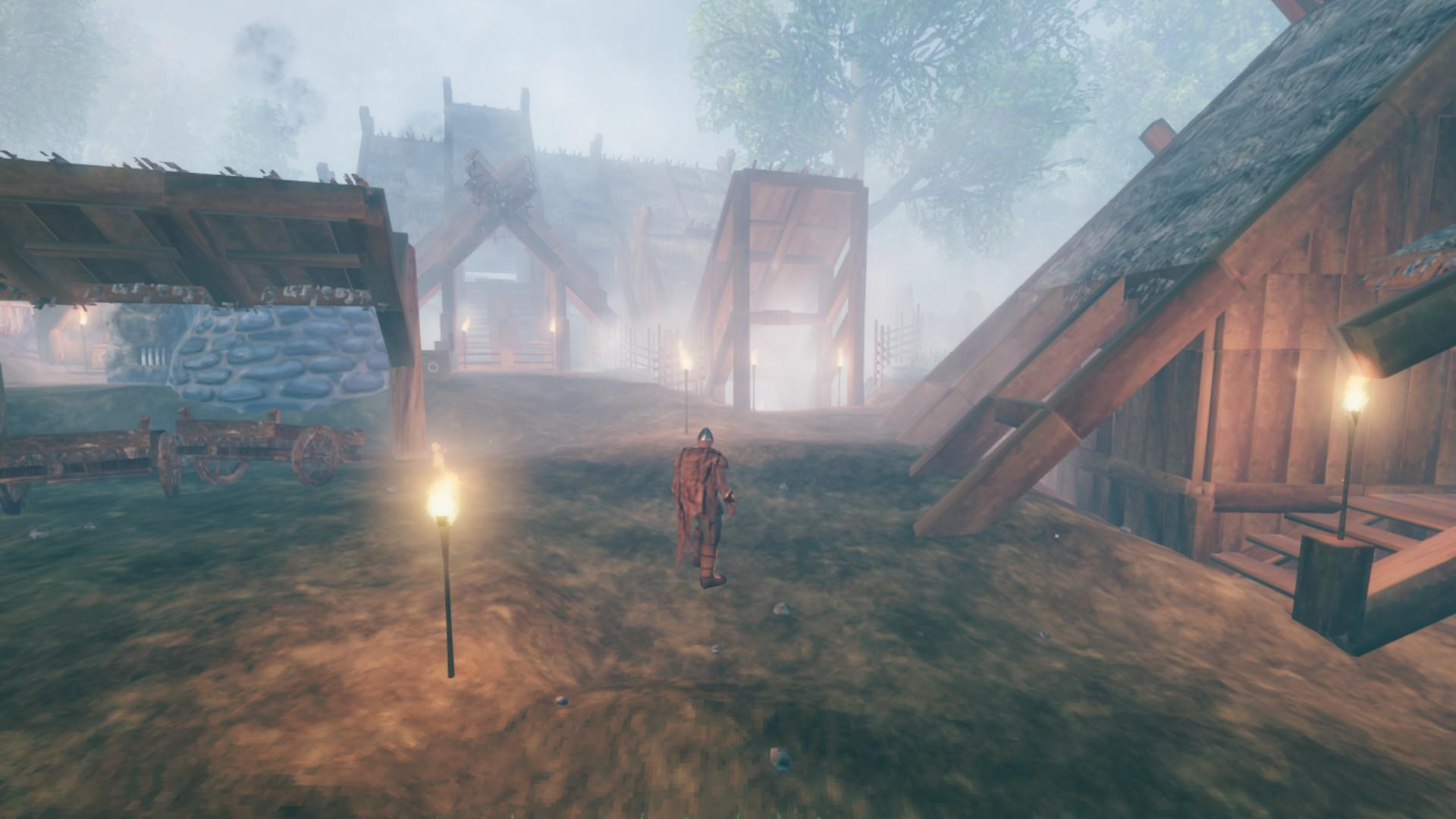 A foggy morning in the realm of Valheim