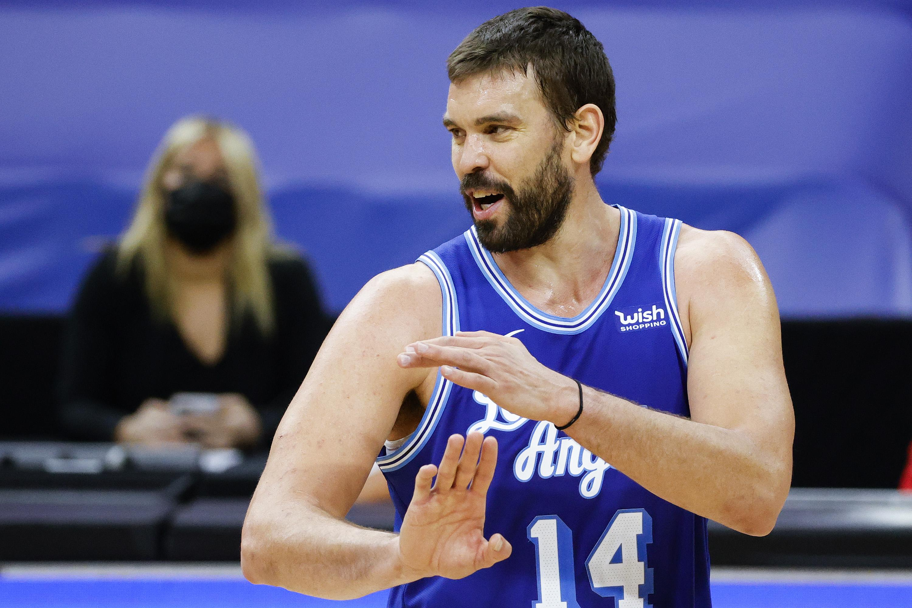 Marc Gasol #14 of the Los Angeles Lakers