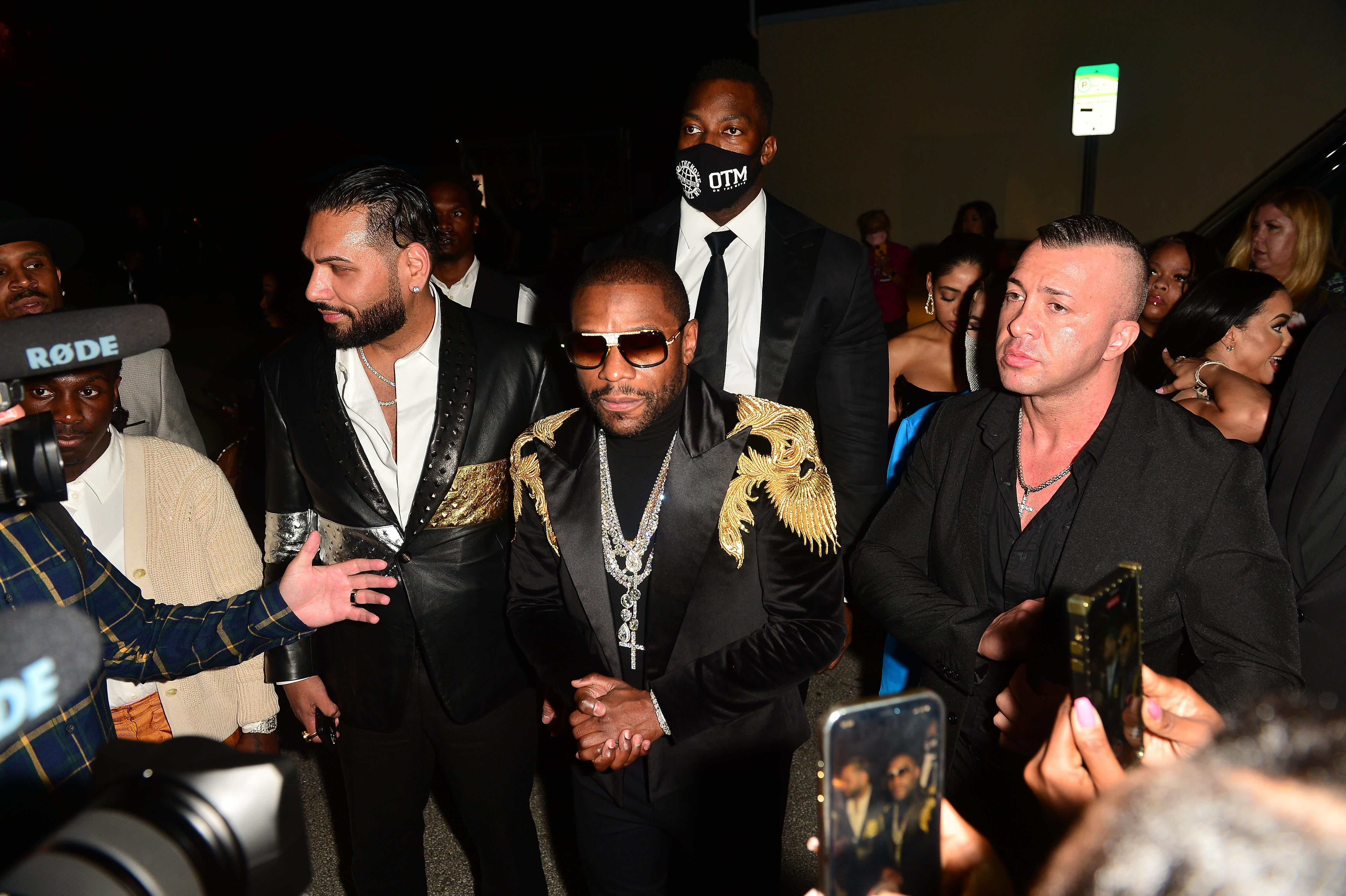 Floyd Mayweather attends his futuristic-themed birthday party