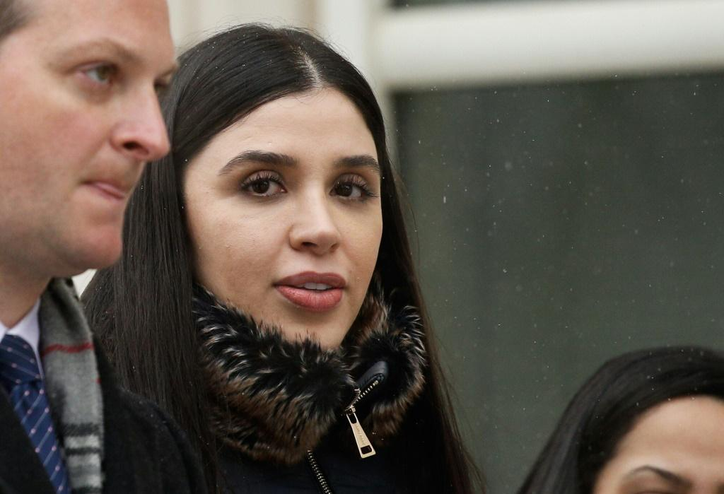 Emma Coronel Aispuro,(C) wife of convicted Mexican drug lord Joaquin 'El Chapo' Guzman, was arrested by US authorities on drug trafficking charges