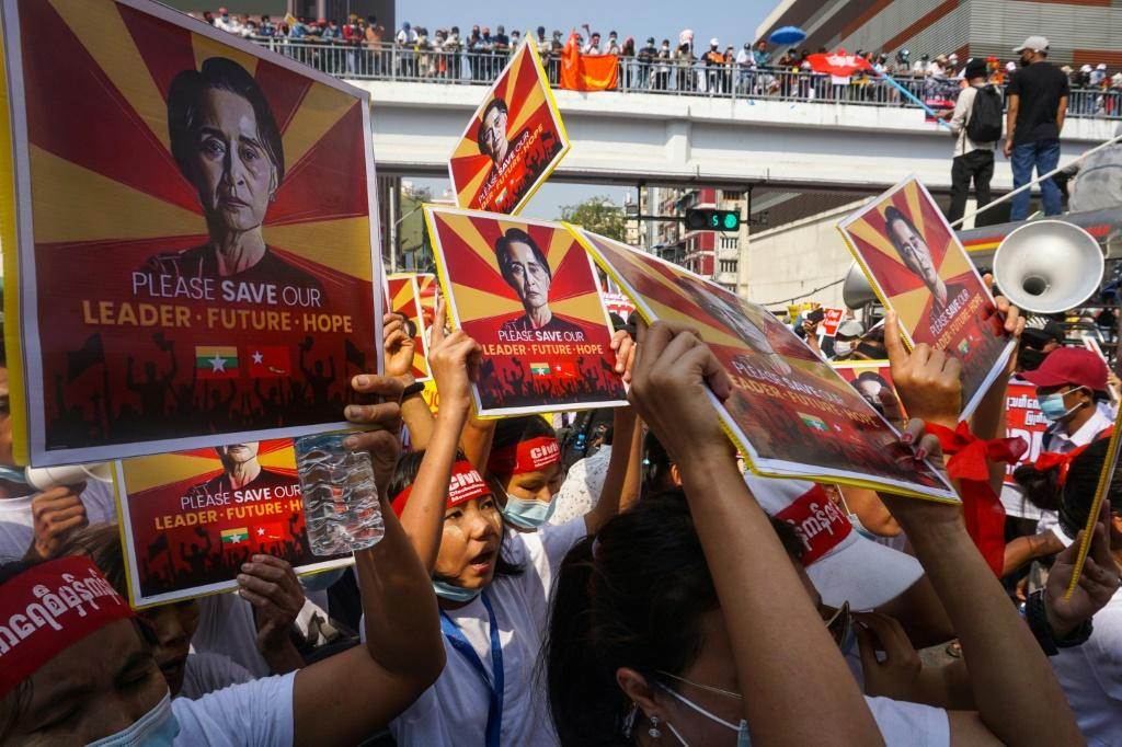 The increased deployment of security forces in Myanmar has so far failed to deter protesters from rallying against the coup