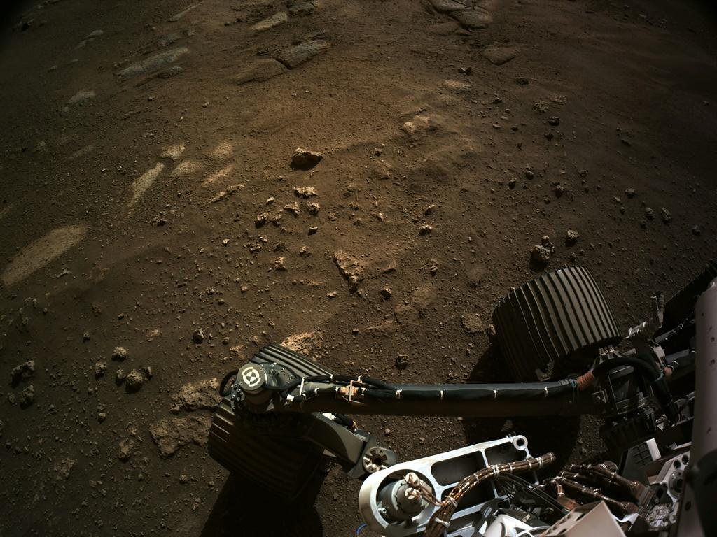 NASA released this photo showing the Perseverance rover on Mars