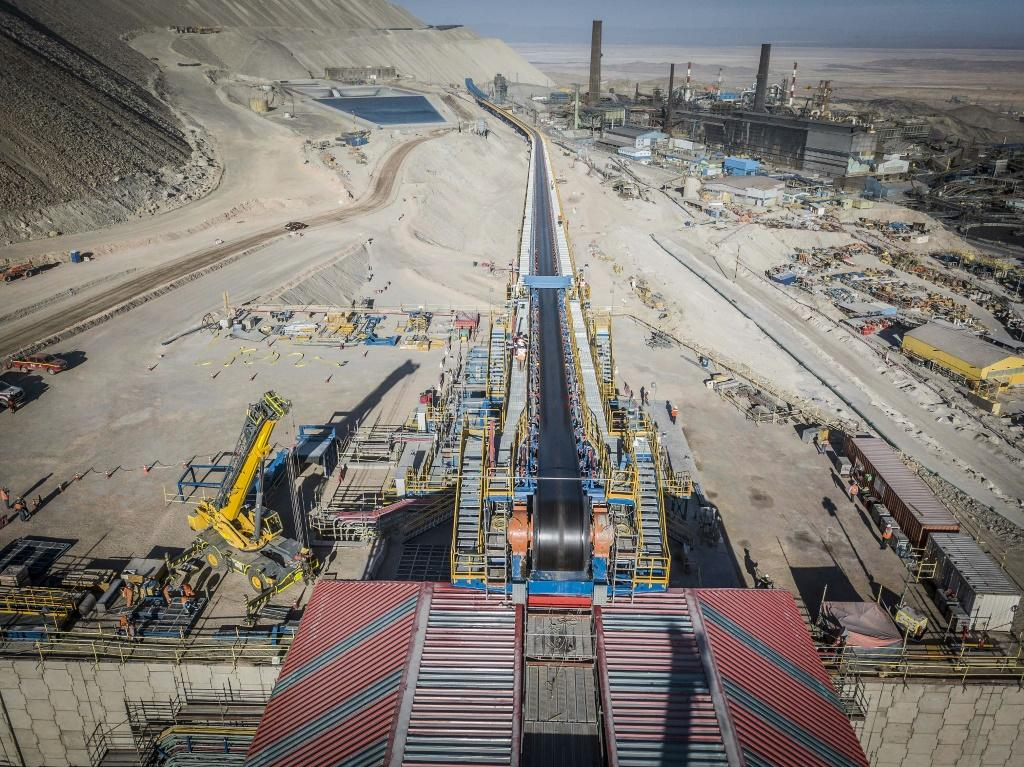 A photo released by Codelco shows the construction of underground operations at the Chuquicamata mine in Calama, Chile in June 2019