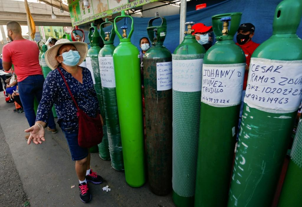 A shortage of oxygen in Peru had forced people to line up for up to four days for a refill