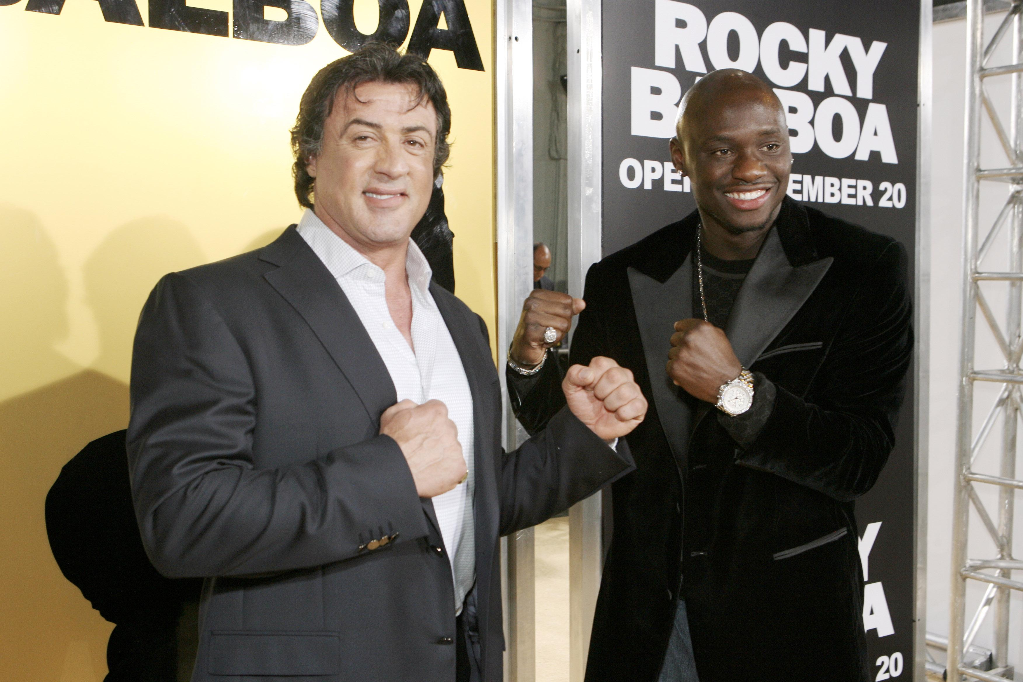 Sylvester Stallone and Antonio Tarver