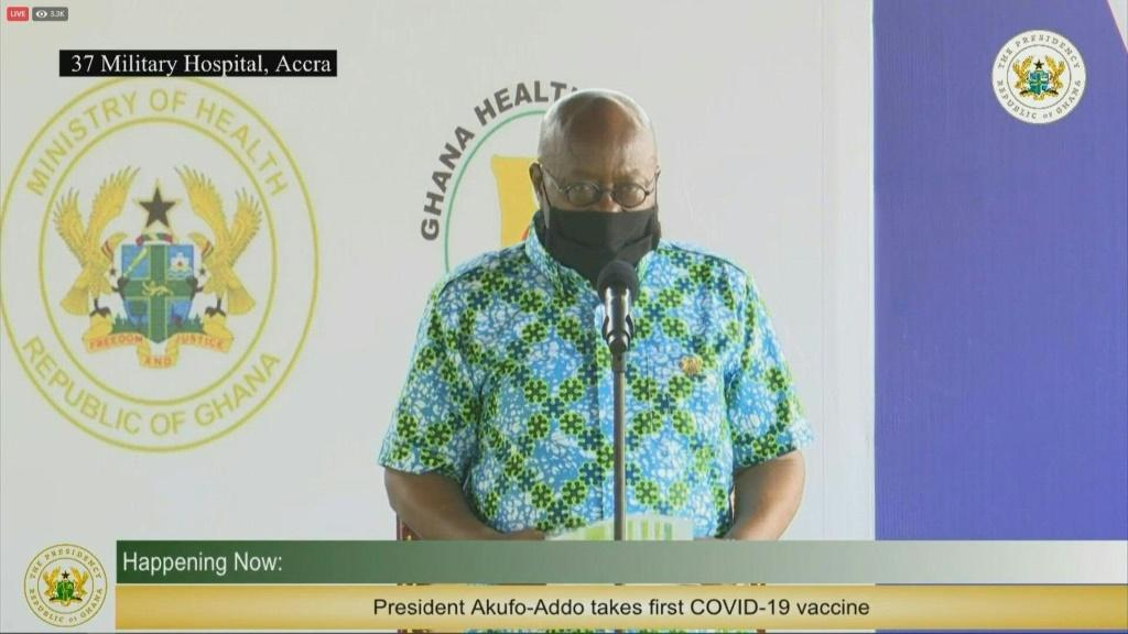 Ghana's president urges other to get Covid jab