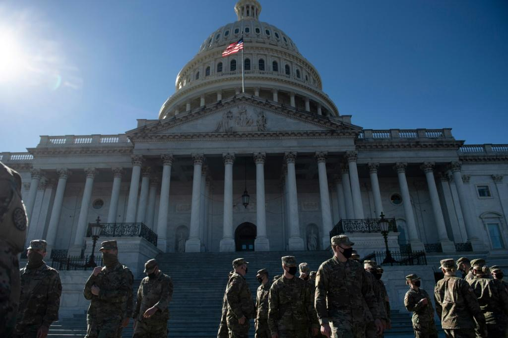 Members of the National Guard remain in Washington as part of the enhanced security posture that has been in place since the deadly riot at the US Capitol on January 6, 2021