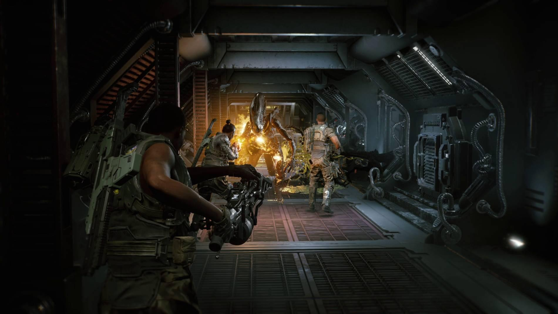 Aliens Fireteam is a third-person co-op shooter set in the Aliens universe, pitting squads of three players against the Xenomorph swarm