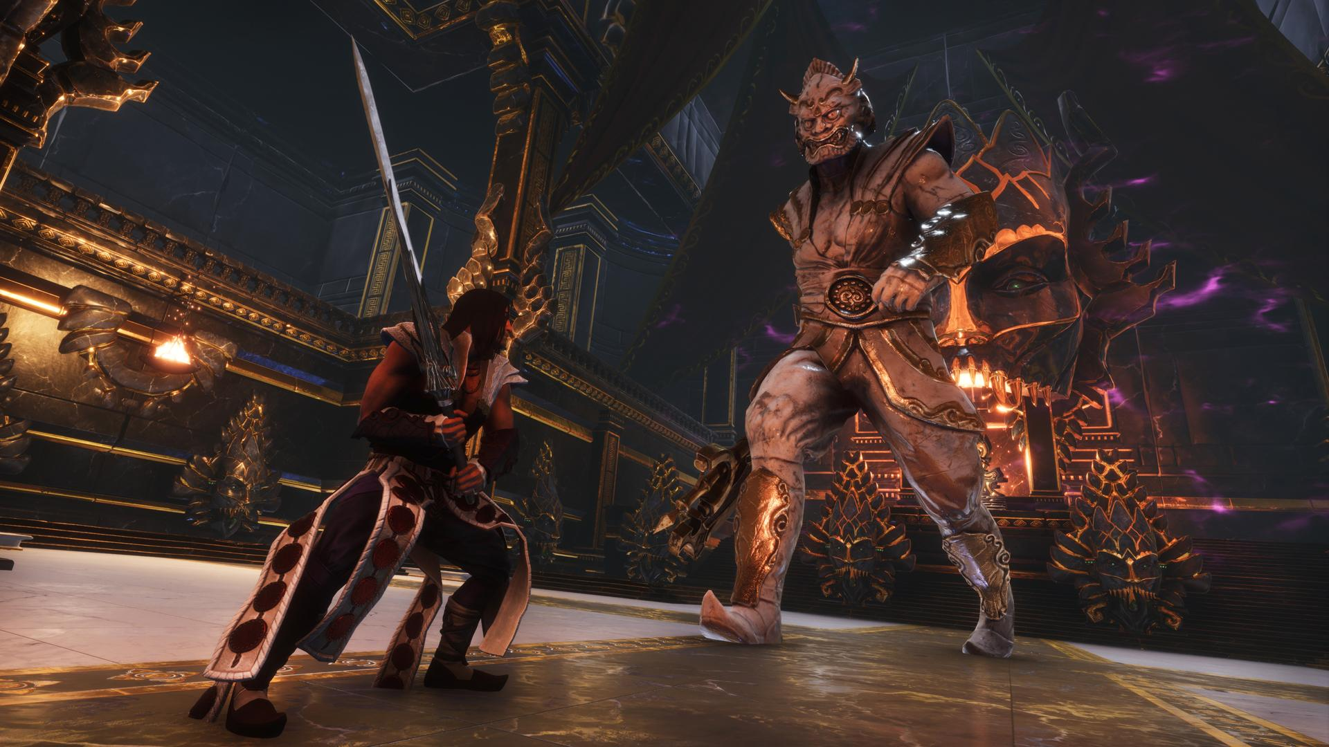 Conan Exiles is a survival game that features challenging combat against intimidating enemies in a vast world filled with explorable dungeons