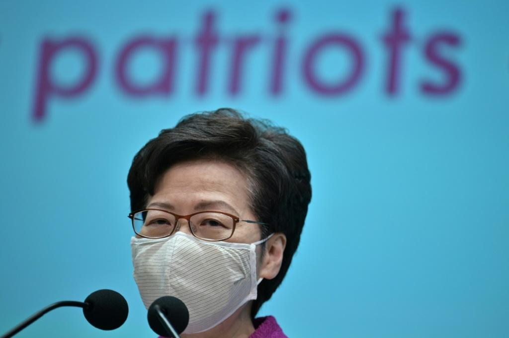 Hong Kong's Chief Executive Carrie Lam said Beijing's decision was 'timely, necessary, lawful and constitutional'