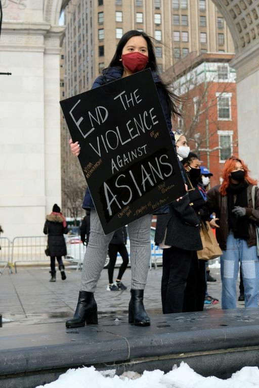 """Reports of attacks, primarily against Asian-American elders, have spiked in early 2021 -- fuelled, activists believe, by talk of the """"Chinese virus"""" by former president Donald Trump and others"""