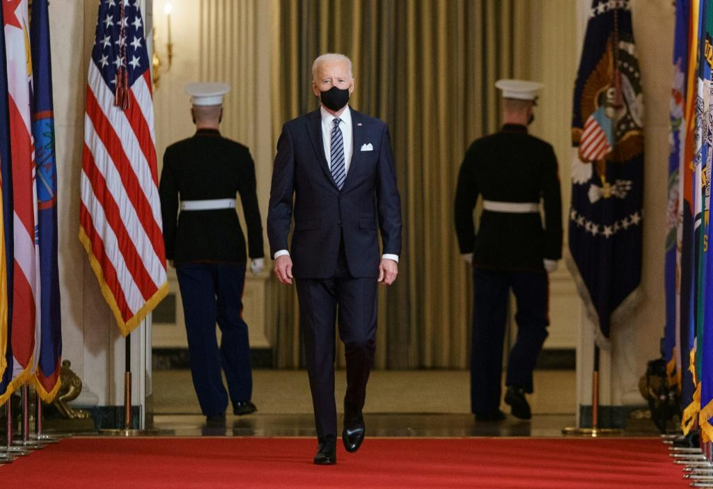 US President Joe Biden raised hopes that the country hardest hit by the global pandemic could overcome the virus