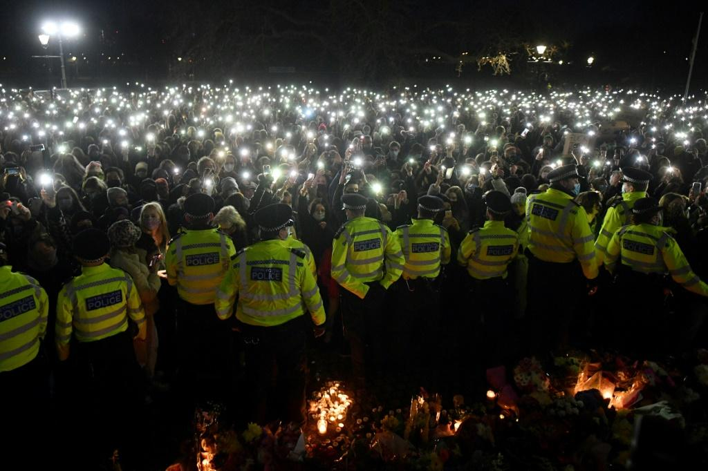 London police are under pressure after they broke up a vigil for the woman on Saturday