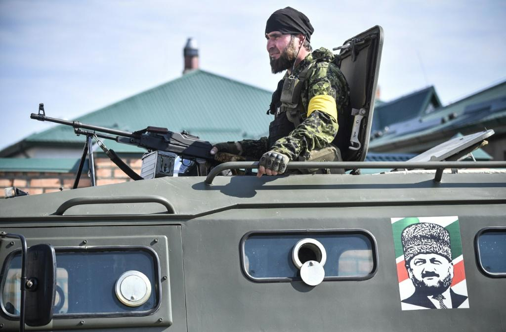 Chechen police said they were 'no strangers to fighting the enemies of Russia in open combat'