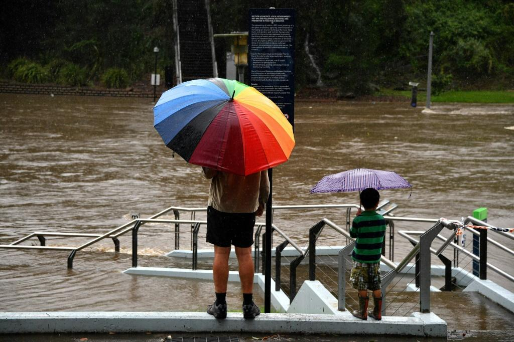 Forecasters warned the heavy rains were set to continue through Saturday 'potentially leading to life-threatening flash flooding'