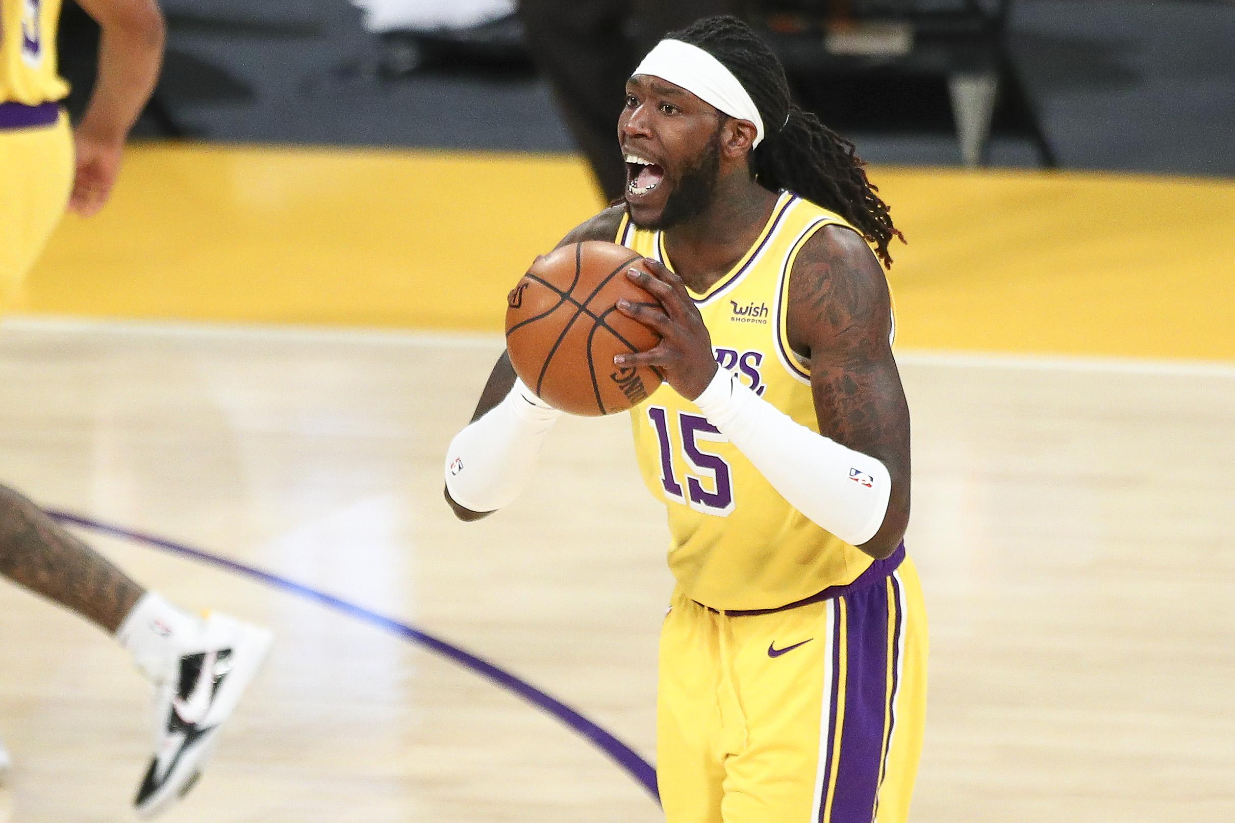 Montrezl Harrell #15 of the Los Angeles Lakers