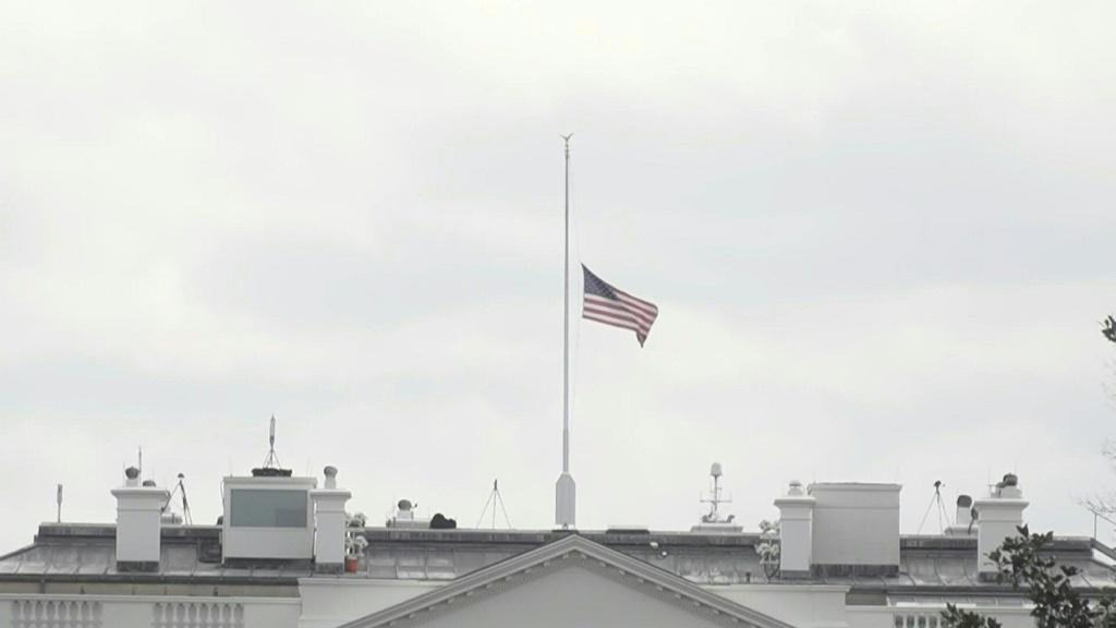 White House flag at half-staff honoring victims in Colorado shooting