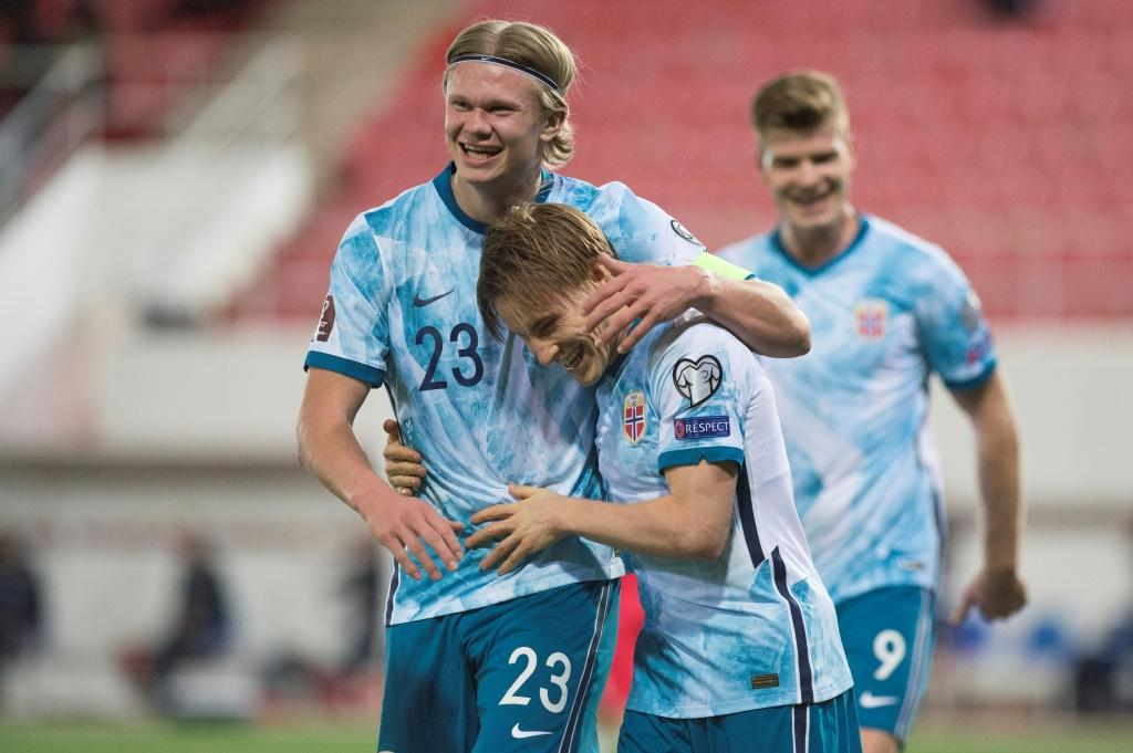 A young Norway side, spearheaded by Haaland (L) made a winning start