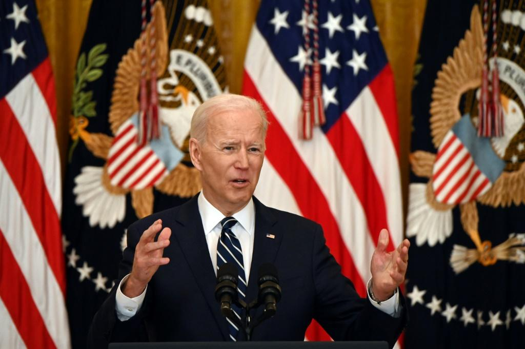 In his first news conference since taking office, Joe Biden pledged to get 200 million vaccine doses administered in his first 100 days, double his original target
