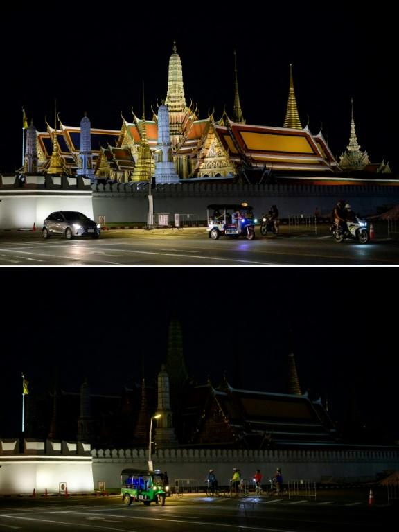 Malls in Bangkok, as well as the city's Grand Palace, also participated