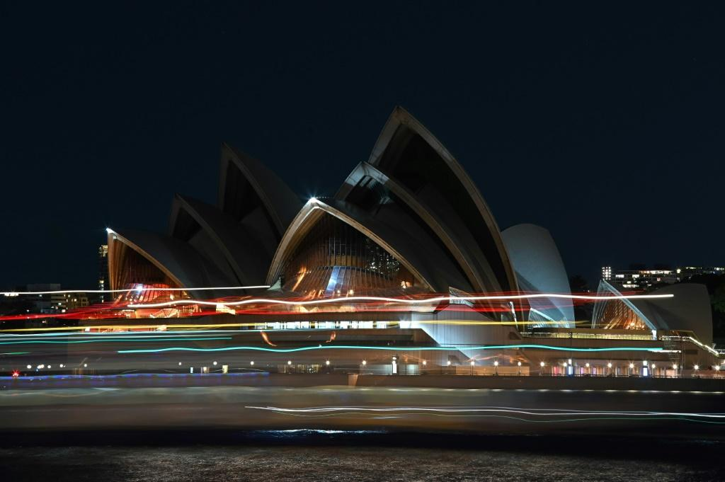 The Sydney Opera House also switched its lights off to mark the event