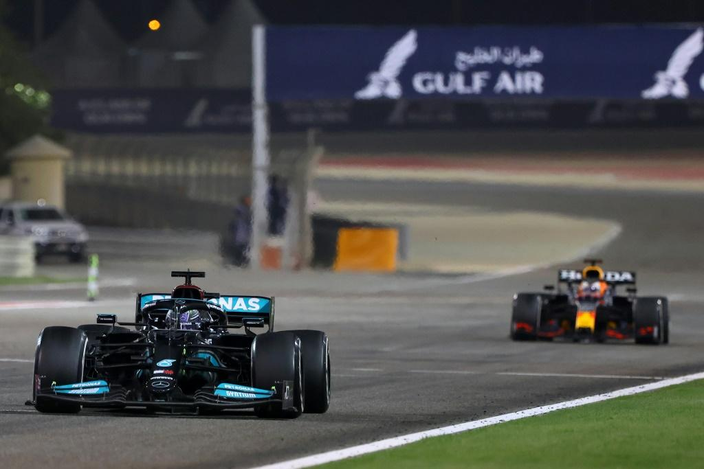 'Great fight': Lewis Hamilton hld off Max Verstappen to win the Bahrain Grand Prix