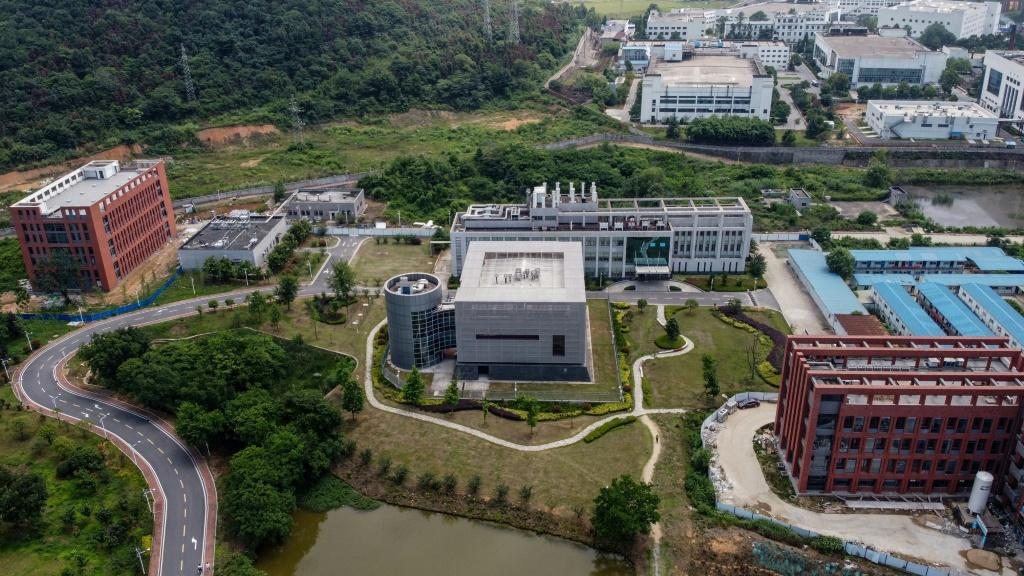 The P4 laboratory (C) on the campus of the Wuhan Institute of Virology in Wuhan has been accused by some top US officials of being the source of the COVID-19 coronavirus pandemic
