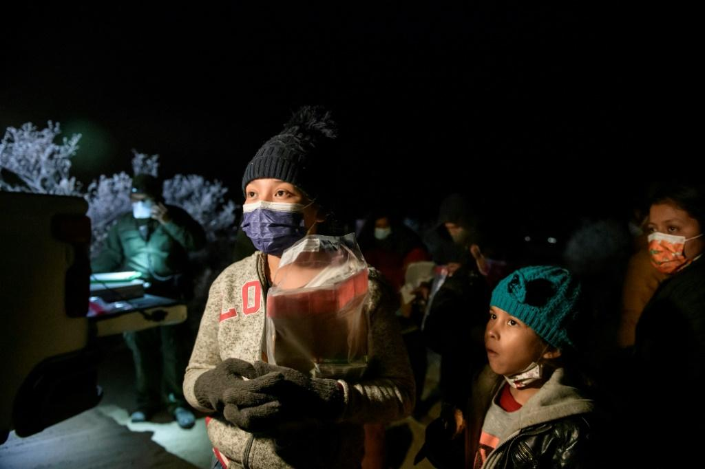 Two Guatemalan sisters aged seven and 13 arrive in the US on March 28 2021 after crossing the Rio Grande in the hope of being reunited in Virginia with their father, who migrated just after they were born. Their mother has been hospitalized for weeks