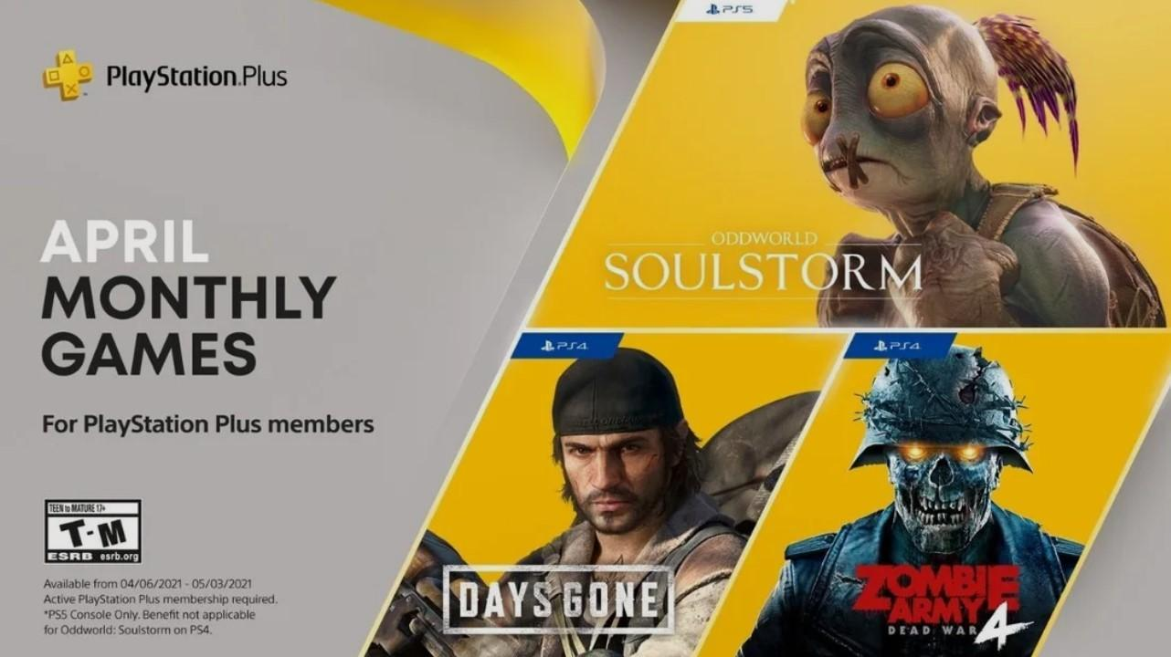 PS Plus monthly free games for April