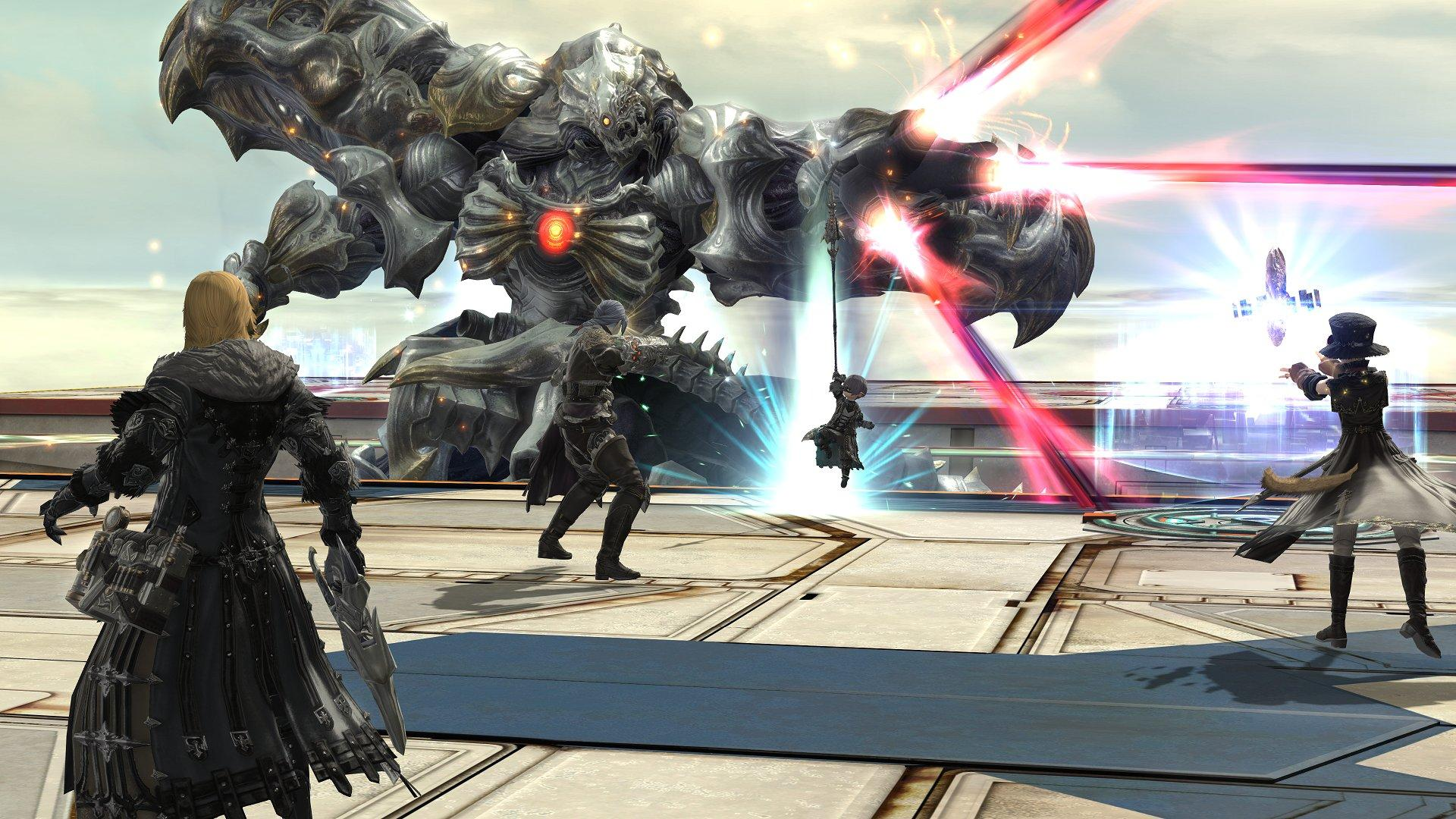 The Diamond Weapon, a boss featured in Final Fantasy 14 Shadowbringers