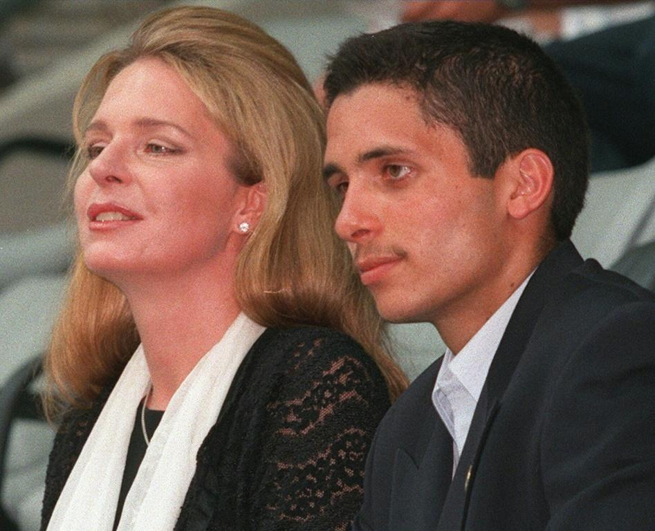 Prince Hamzah of Jordan seen in this August 1999 picture is the eldest son of the late King Hussein and his American-born wife Queen Noor also pictured here