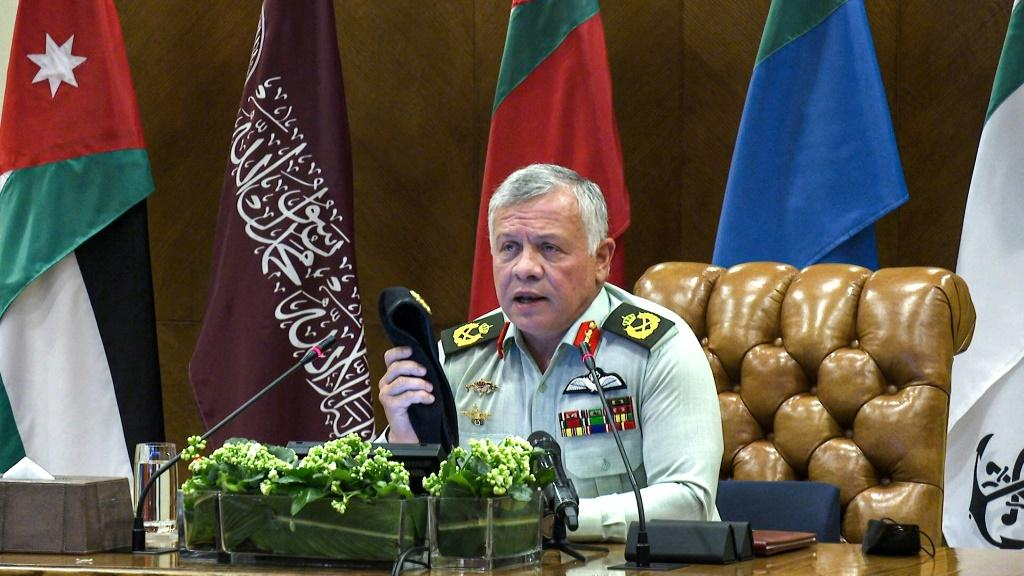 Jordanian King Abdullah II shown in picture released by the palace on March 1