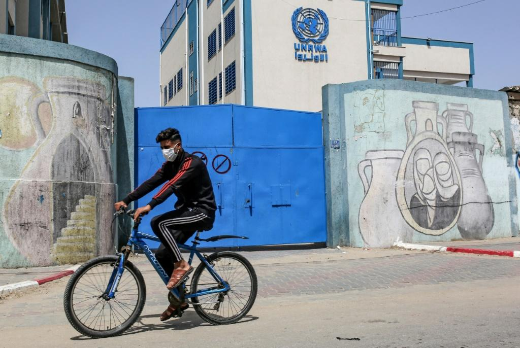 A school run by the United Nations Relief and Works Agency for Palestinian Refugees in Rafah, in the southern Gaza Strip -- UNRWA once counted on the United States as its top donor but has faced a shortfall since Donald Trump withdrew funds from 2018