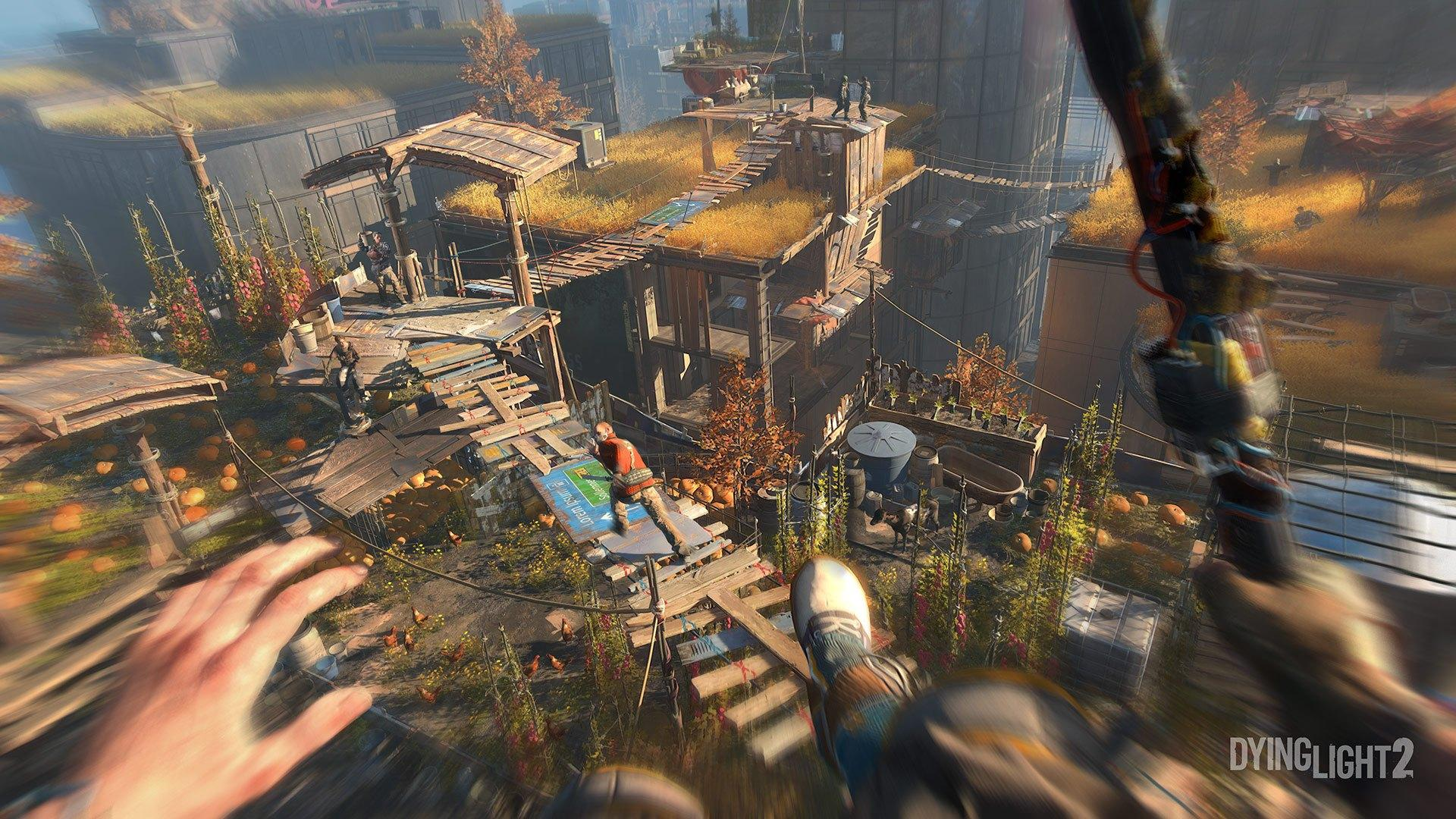Dying Light 2 features agile movement and brutal melee combat in sprawling open world