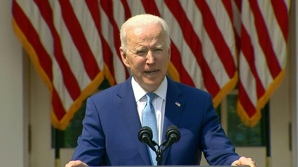"""US President Joe Biden calls for a ban on military style weapons and large ammunition clips in private hands. """"We should also ban assault weapons and high capacity magazines,"""" says Biden at a White House event."""