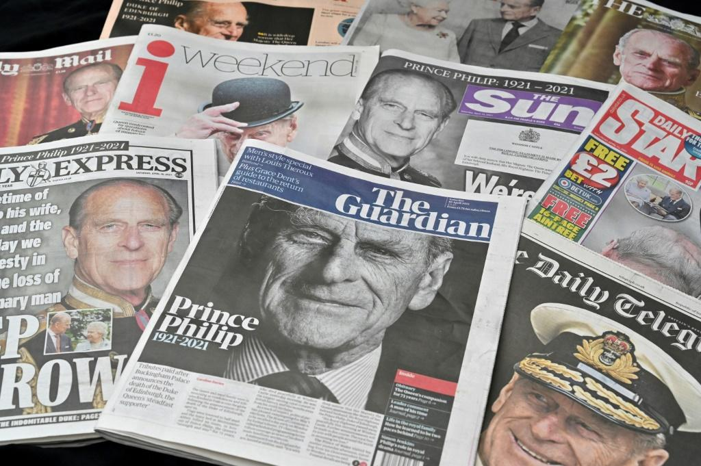 British newspapers mark the duke's death