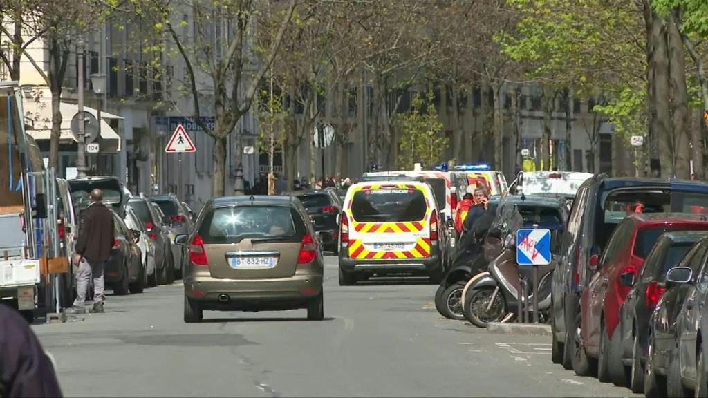 Images of Parisian hospital, scene of fatal shooting