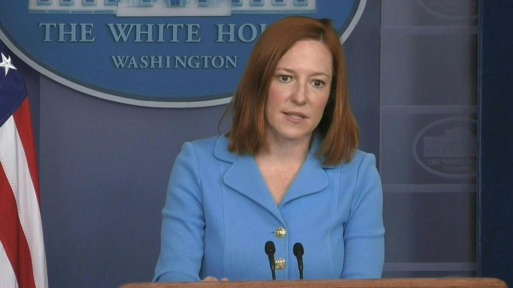 """SOUNDBITEThe United States is """"increasingly"""" worried by Russia's troop build-up on the Ukrainian border and about fighting between Moscow-backed separatists and Ukrainian troops, White House Press Secretary Jen Psaki tells reporters. Russian troop presenc"""