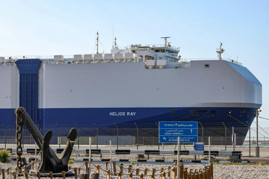Israel-operated cargo ship the MV Helios Ray was hit by explosions at sea on February 25 which blast in the Gulf of Oman left two holes in its side